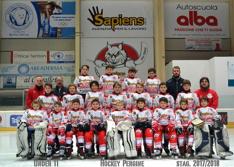 Anteprima foto Hockey Pergine Under 11 stag.2017 2018 copia