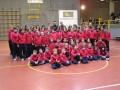 Foto di gruppo con i giocatori dell'Itas Diatec Trentino