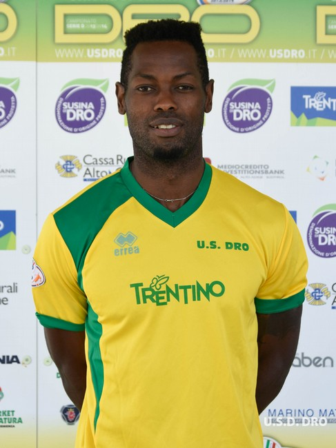 L'attaccante gialloverde Lollo Amassoka, vicino al gol in più occasioni ieri