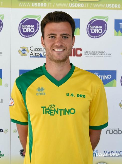 L'attaccante gialloverde Manuel Caridi