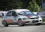 Gabriella Pedroni su Mitsubishi Lancer Evo 9 (2° Gruppo N)