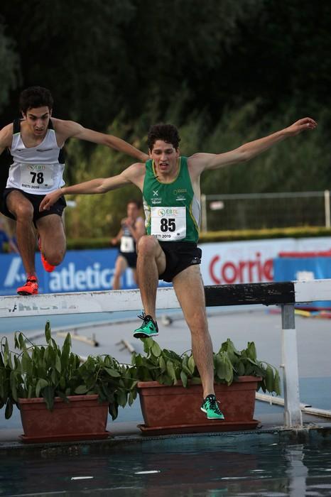Giovanni Gatto all'argento sui 3000 siepi (foto FIDAL/Colombo)