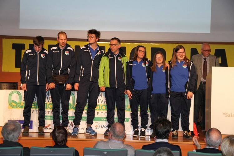 Gli atleti del gruppo FISDIR