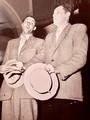 Lino Lucchi e papà alla Filarmonica