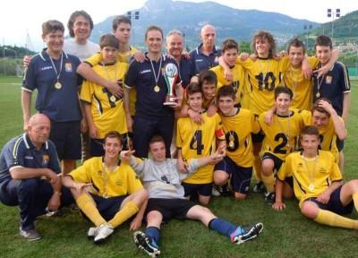 I Giovanissimi del Levico festeggiano il titolo provinciale