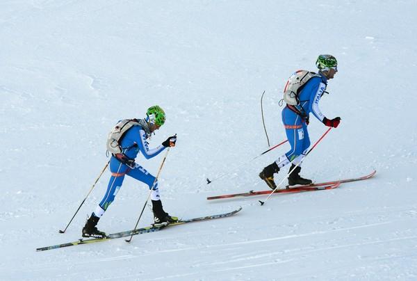 Eydallin e Lenzi, vincitori dell'Adamello Ski Raid