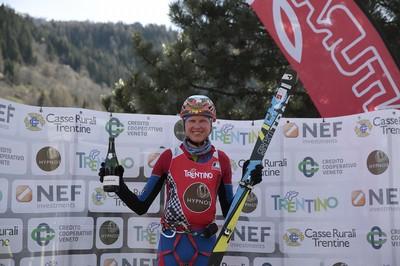 Manfred Reichegger sul podio finale di Coppa delle Dolomiti