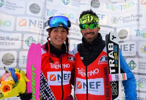 Alba De Silvestro e Robert Antonioli vincitori di Coppa delle Dolomiti 2017