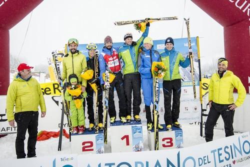 Il podio maschile della Lagorai-Cima d'Asta 2017