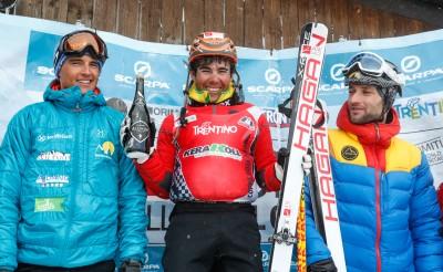 Il podio di Coppa delle Dolomiti
