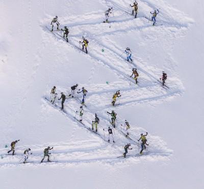 Un passaggio della Ski Alp Race Dolomiti
