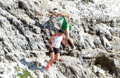 Kilian Jornet e Marco De Gasperi in Val Lasties