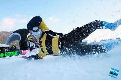 Si va in meta anche nella neve (Snow rugby Tarvisio)