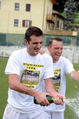 9 giugno 2012, Adriano Francescotti e Corrado Bonazza festeggiano il ritorno nel massimo campionato regionale
