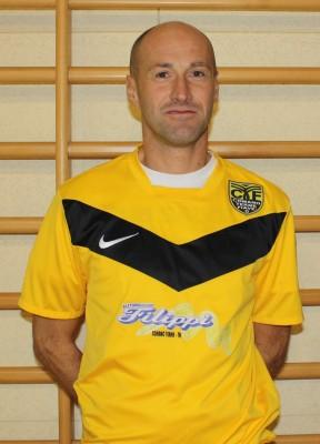 Luca Pedrini, allenatore dei giovanissimi gialloneri e allenatore-giocatore del futsal maschile