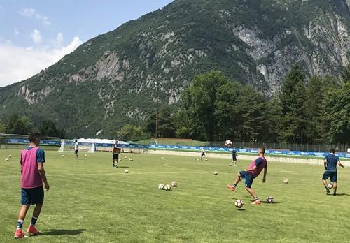 La Juventus Primavera al lavoro sul campo di Promeghin