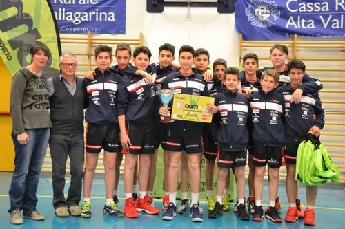 Premiazione per la Diatec Trentino Volley vincitore dell'oom+ Volley Day 2017