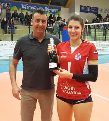 Premio Mvp del match per la palleggiatrice Camilla Giora