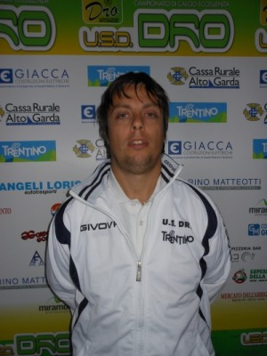 L'allenatore del Dro allievi Alessandro Tosi