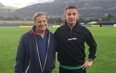 Il Presidente gialloverde Loris Angeli con Cristian Soave