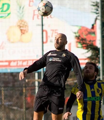 Axhi Hasa durante un match amichevole contro il Trento (Foto FootballHazard Studio)