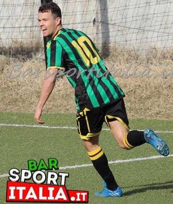 Matteo Simonini ha sbloccato il risultato dopo soli 9' di gioco (Foto BarSportItalia.it)