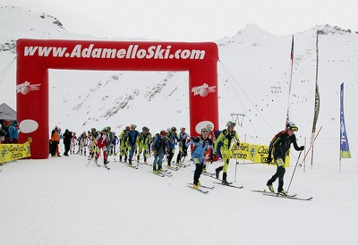 La partenza 2014 dell'Adamello Ski Raid Junior