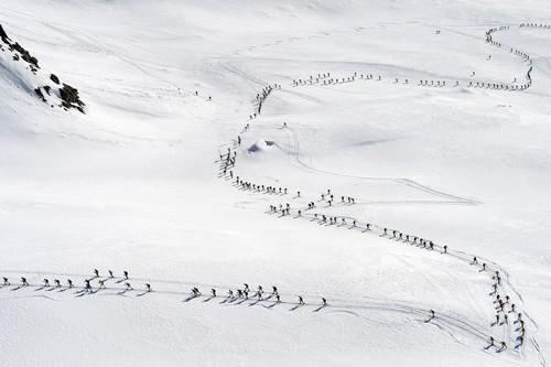 Una panoramica del percorso di gara sul Pian di Neve