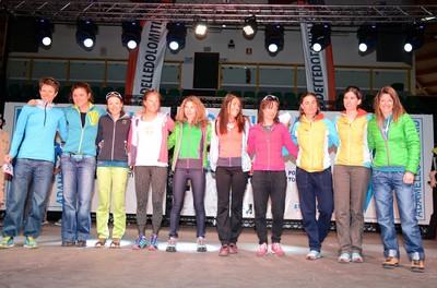 Le top atlete della categoria femminile al briefing