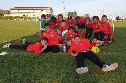 La squadra Pulcini che ha preso parte al torneo di Soave