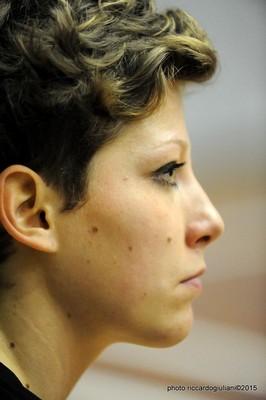 La schiacciatrice trentina Anna Mezzi (foto di Riccardo Giuliani)