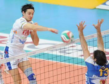 Nicola Leonardi con la maglia della Trentino Volley (foto Marco Trabalza)