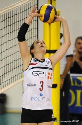 Aurora Bonafini al palleggio (foto di Riccardo Giuliani)