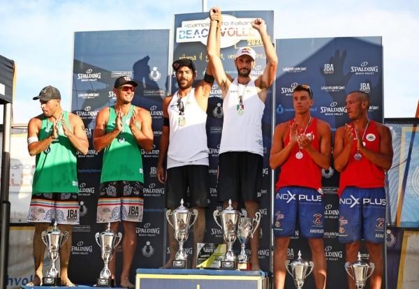 Il podio maschile (Agenzia Fotografica Piran - Fipav)