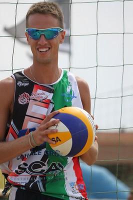 Il beacher trentino e schiacciatore dell'Anaune Fabrizio Andreatta