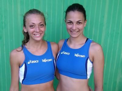 Emma Kordoglu e Francesca Michieletto rappresentano il Trentino