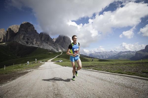 Alex Baldaccini, trionfatore della Val di Fassa Running