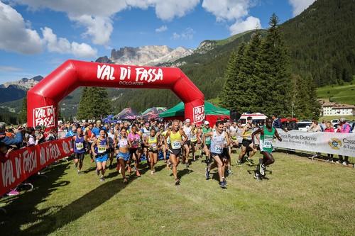 Lo start della Val di Fassa Running
