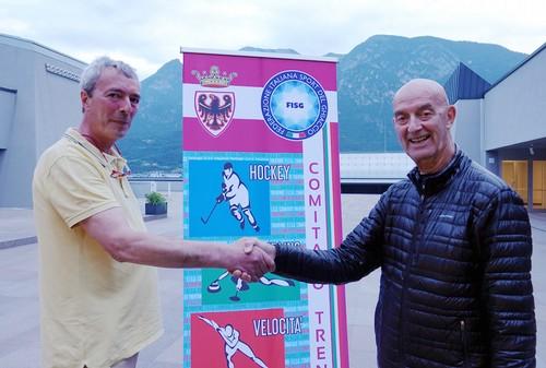 Il nuovo presidente Paolo Deville con Luigi Saltori