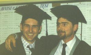 Davide ed Enrico il giorno della laurea