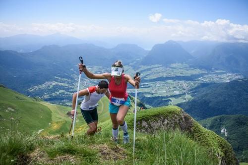 Il giudicariese Patrick Facchini in azione alla Valandro Vertical Race