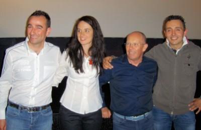 Simone Faggioli, Gabriella Pedroni, Fiorenzo Dalmeri e Christian Merli