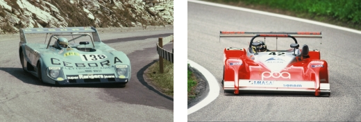 Mauro Nesti sulla Lola Cebora BMW (1976) e Pasquale Irlando nel 2000, l'anno del record