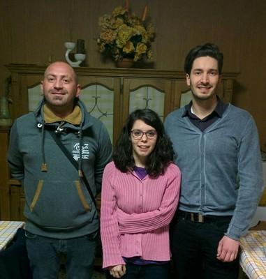 Il podio del 2° gruppo con Elena Valentini, di Villa Rendena, che supera i due moriani Giuseppe toscano e Lorenzo Modena