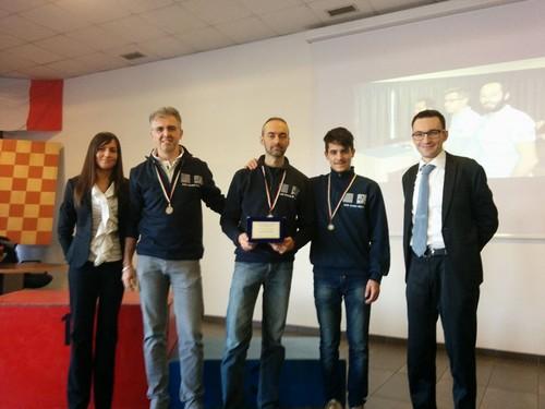 Da sinistra a destra Ivano Pergher, Riccardo Agosti e Damiano Leonardi