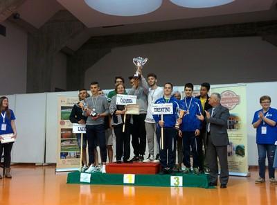 La squadra di Trento al terzo posto
