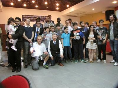 Foto ricordo dei giocatori alla Coppa Città di Latina