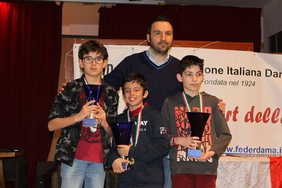 Il podio del campionato minicadetti
