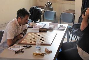 Moreno Manzana impegnato con Luca Lorusso