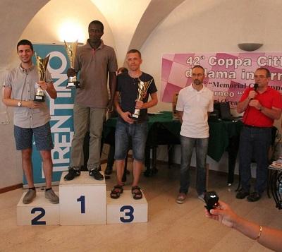 Il podio della 42ª Coppa Città di Mori